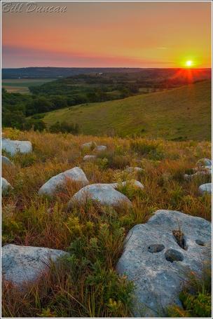 Dawn on the Kansas River Valley