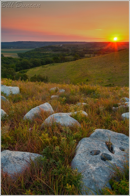 Dawn on the Kansas River Valley