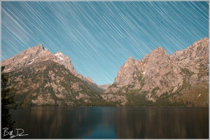 Star Trails at Jenny Lake